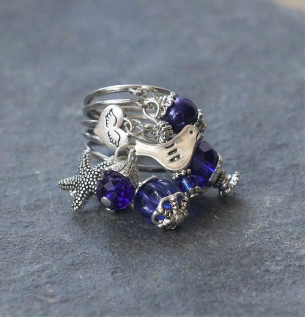 Deep Blue Gyűrű