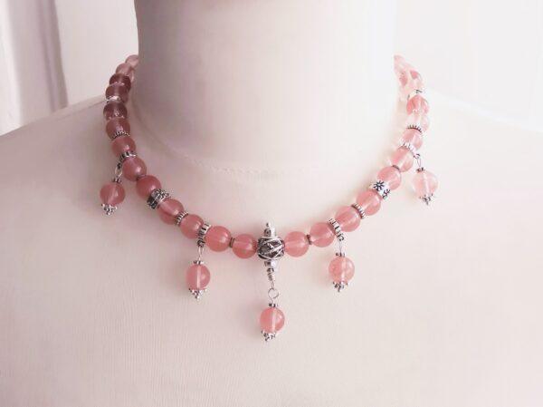 Pink Tourmalin Nyaklánc