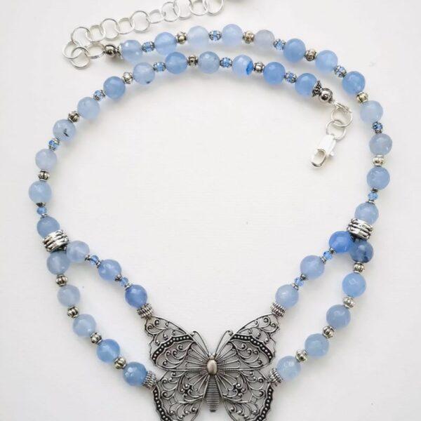 Aquamarin Butterfly Nyaklánc