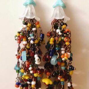 Flowing Beads Fülbevaló