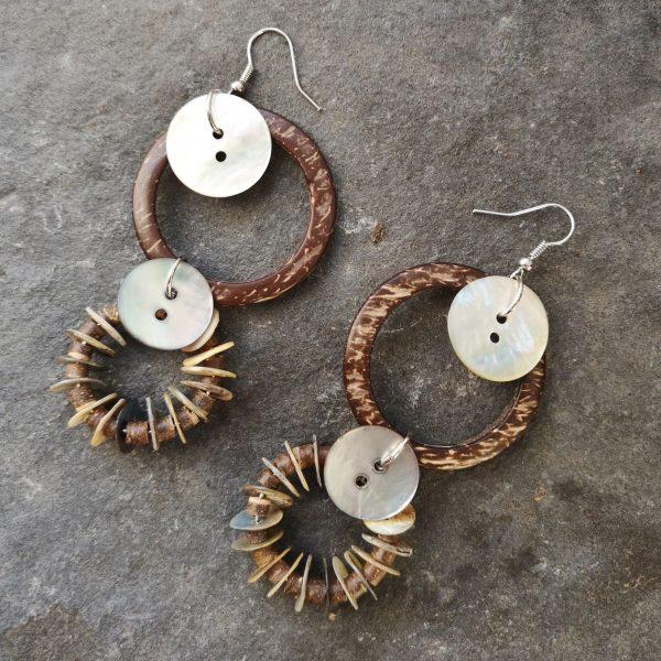 Coconut Pearl Fülbevaló