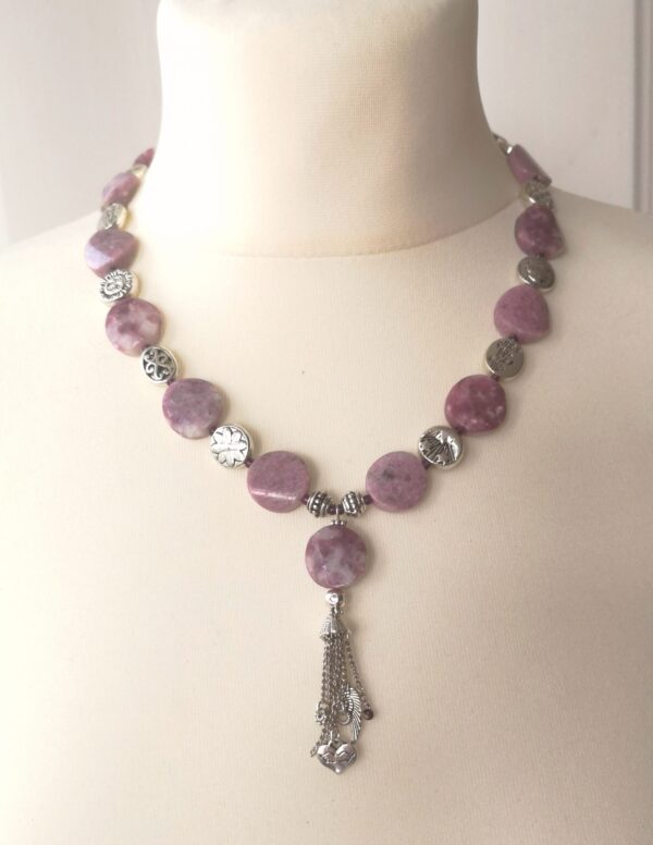 Purple Gemstone Nyaklánc