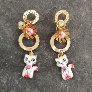 Rosie the Cat Earrings