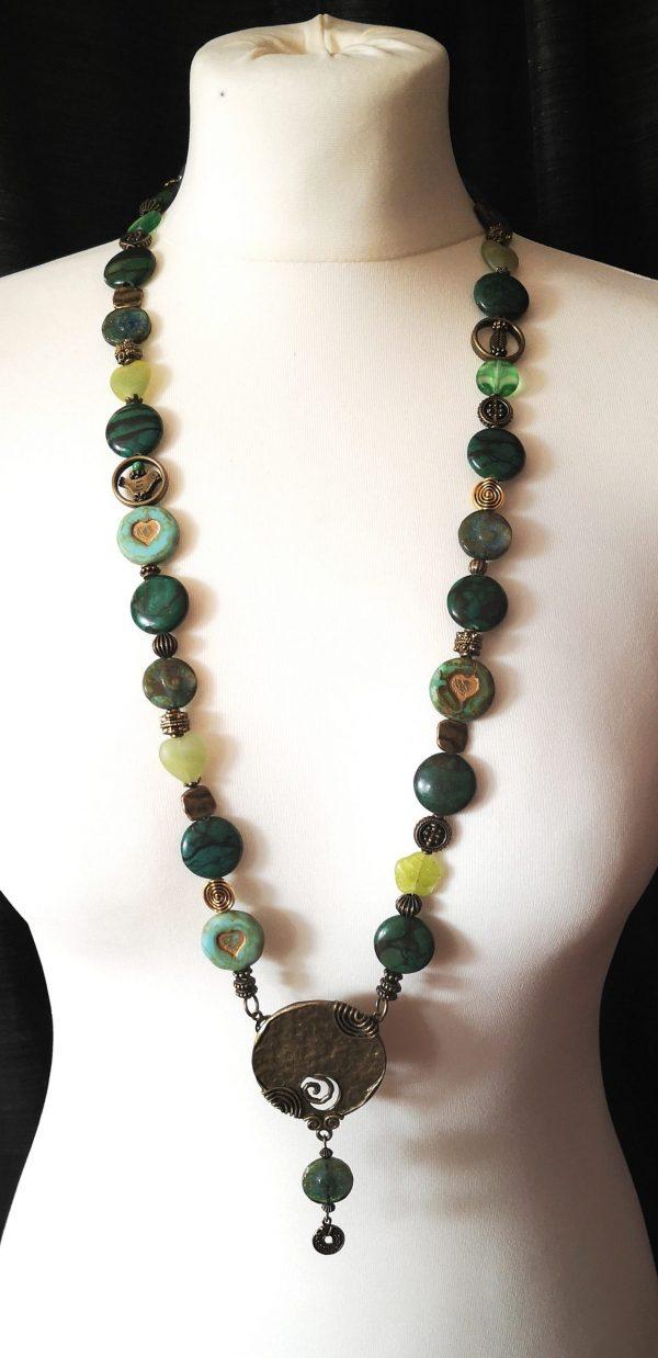 Green Stone Nyaklánc