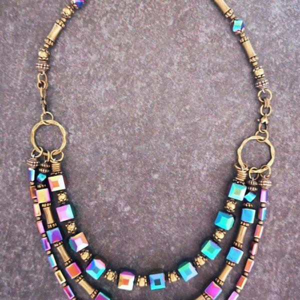 Bronze Rainbow Necklace