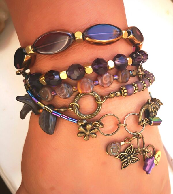 Purple Bracelet Nyaklánc