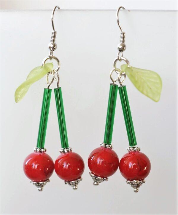 Double Cherry Fülbevaló